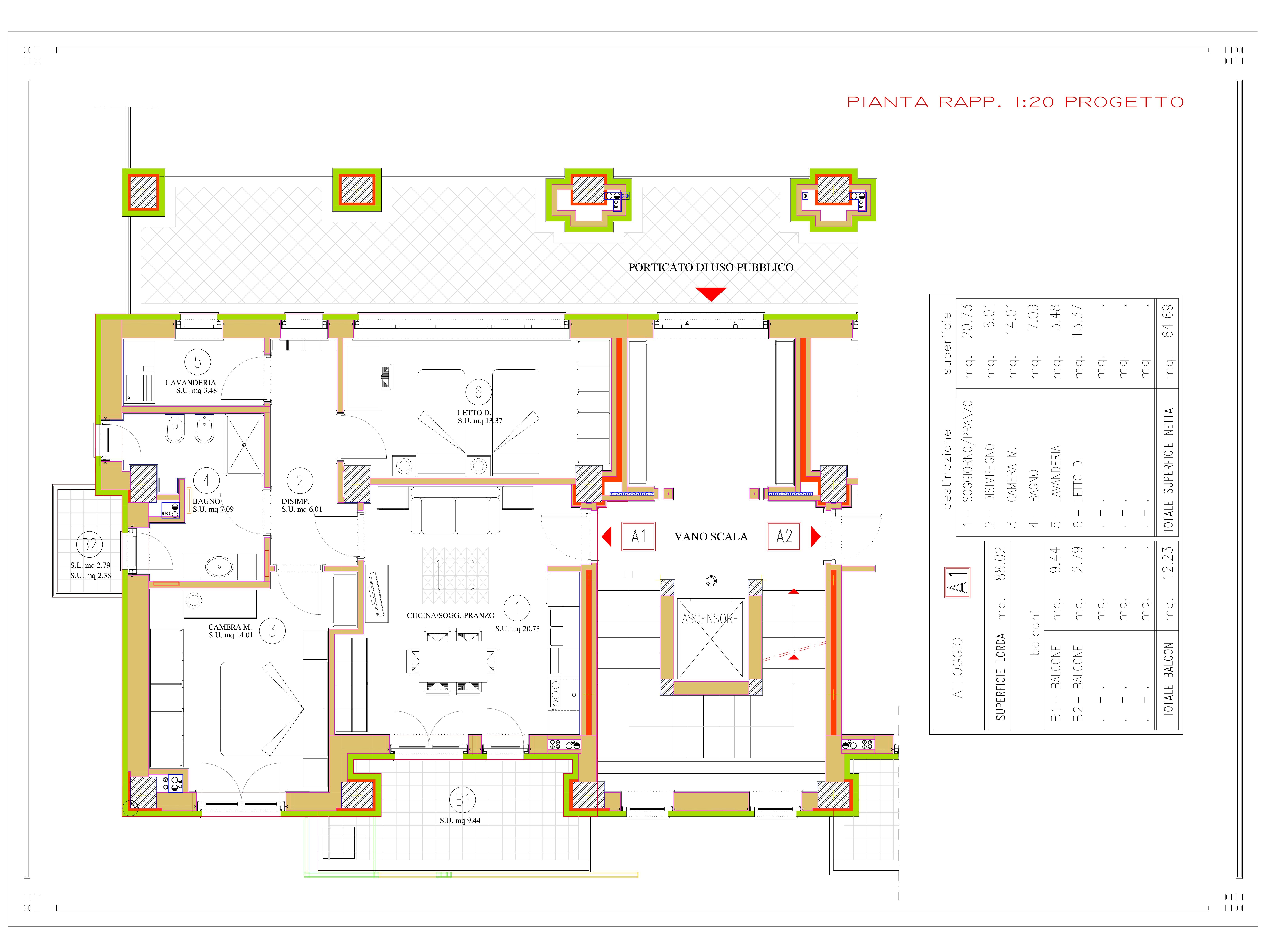 DIVISIONE EX LOC. COMM. A1 pianta quota 813-001
