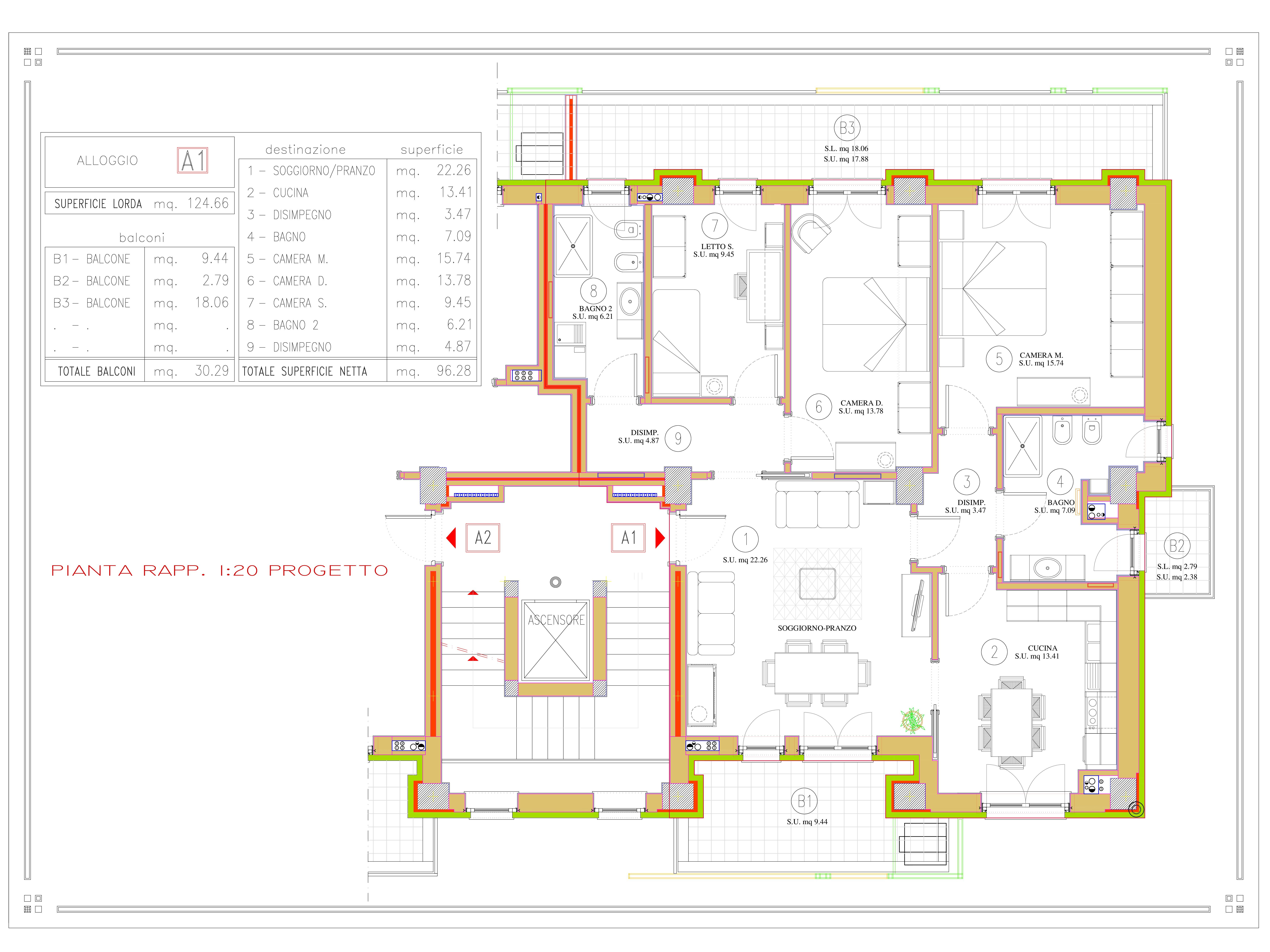 DIVISIONE CON 2 APPART. A1 pianta quota 832-001