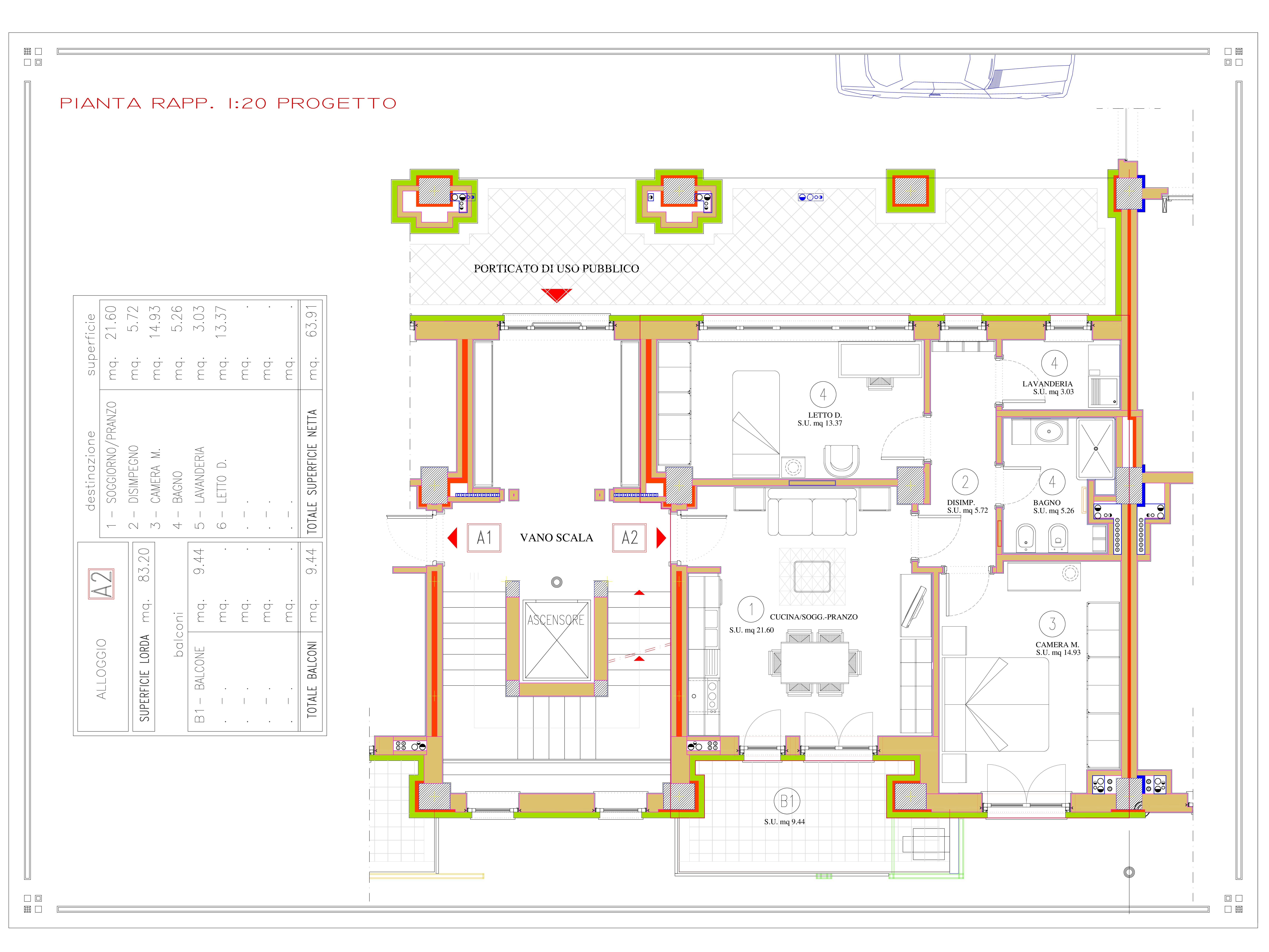 DIVISIONE EX LOC. COMM. A2 pianta quota 813-001